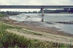 Plaża Saska, stary most Łazienkowski